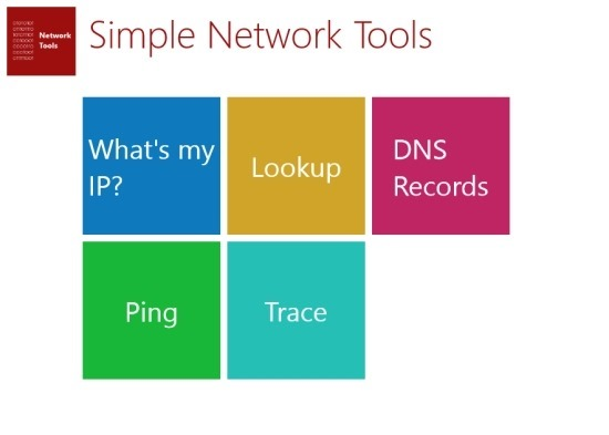 Simple Network Tools For Windows 8