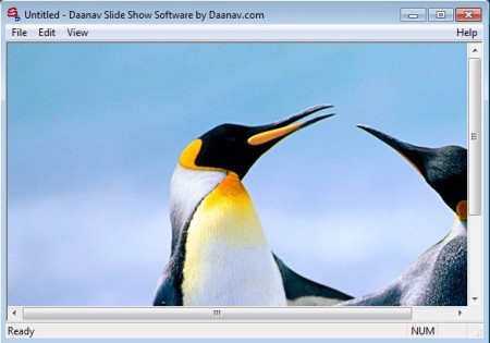 Slide Show Software default window