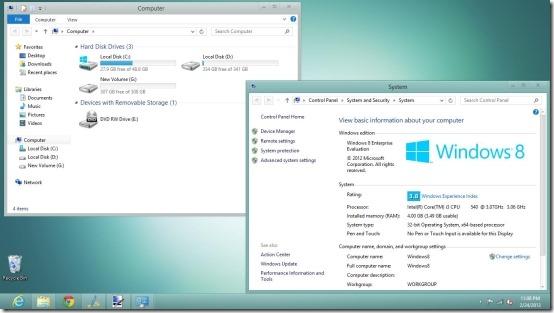 Snowy Theme For Windows 8