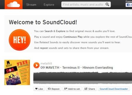 SoundCloud Downloader default window