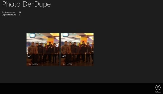 Steps to remove duplicate pictures in Windows 8