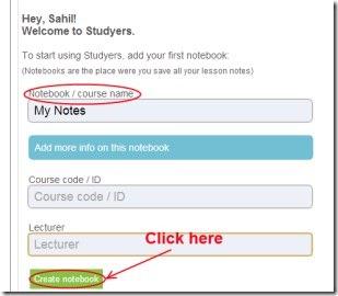 Studyers 02 create notes