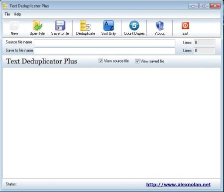Text Deduplicator Plus default window
