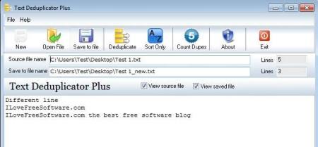 Text Deduplicator Plus duplicates filtered