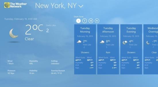 The Weather Network App Windows 8