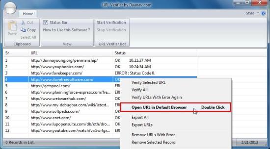 URL Verifier open url