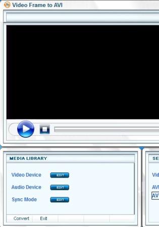 Video Frame To AVI default window