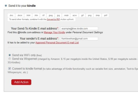 Wappwolf send to kindle