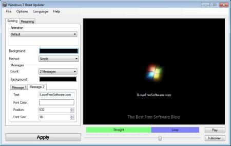 Windows 7 Boot Updater edited boot logo