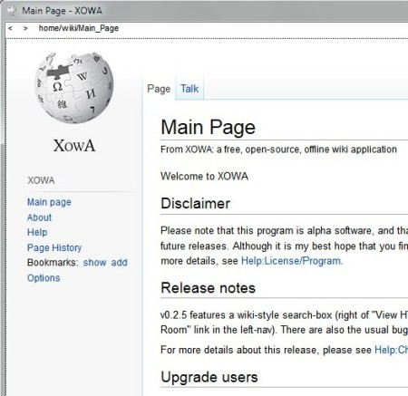 Xowa default window