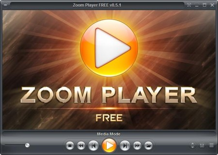 Zoom Player free audio and video player default window