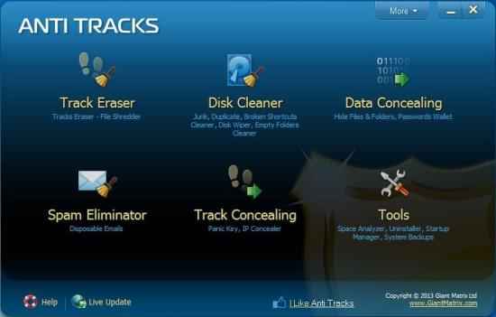 anti tracks interface