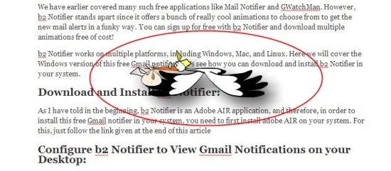 b2 notifier mail notification