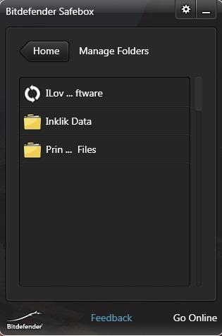 bitdefender manage folders