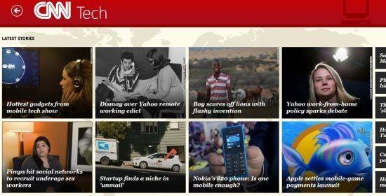 categories in cnn app for windows 8