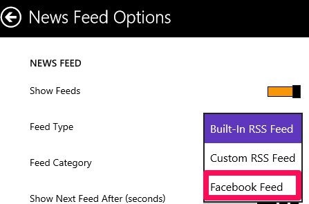 change feeds to facebook