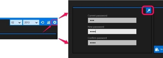 change password in ubudget