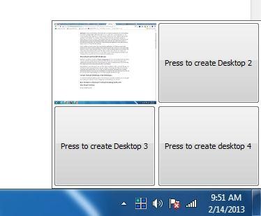 desktops create virtual desktops
