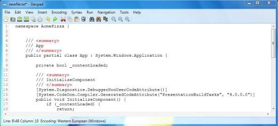 devpad code
