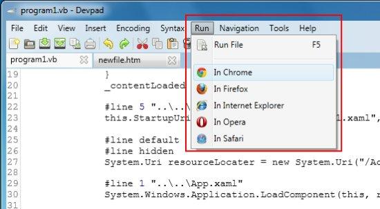devpad run code