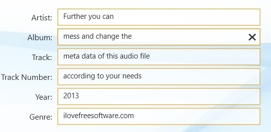 edit meta data with mp3 cutter for windows 8