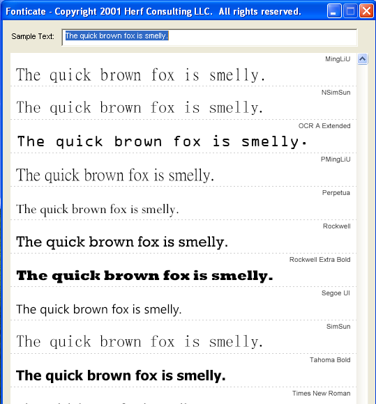 fonticate to preview fonts interface