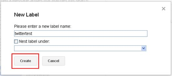google create label