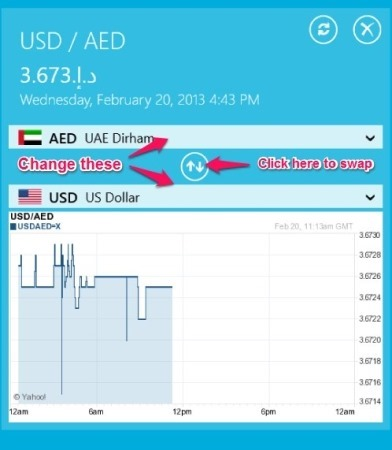 how to add more currency to currency converter app for windows 8