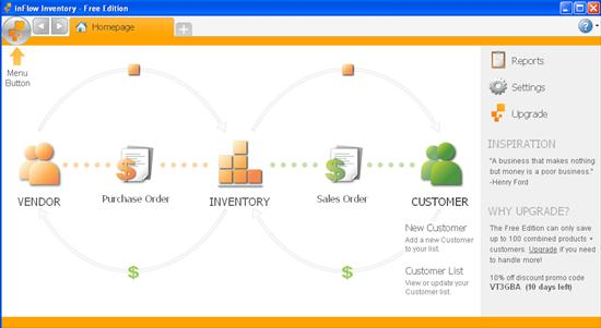 inflow inventory free business inventory software interface