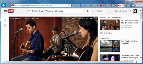 internet explorer 10 browsing