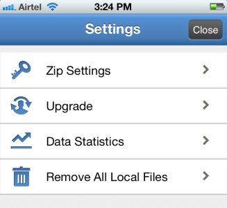 izip settings