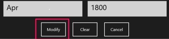 modify pie chart in windows 8