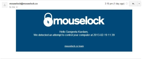 mouselock - mail