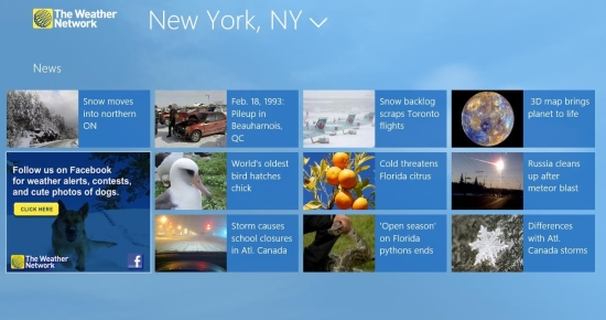 news in weather network app for windows 8