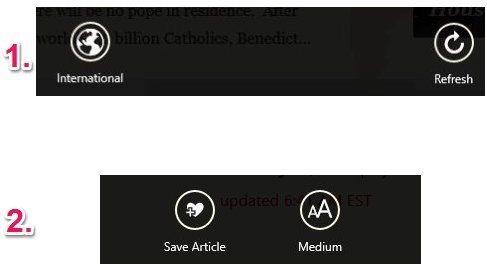 option menu in cnn windows 8