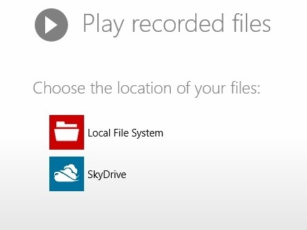 play recorded audio in windows 8