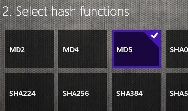 select md5 option