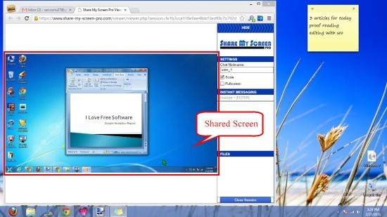 share my screen pro screen sharing