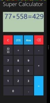 snap mode scientific calculator windows 8