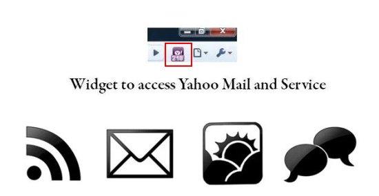 yahoo mail widget interface