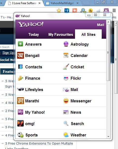 Yahoo! Mail In Chrome