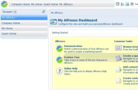 Alfresco default window