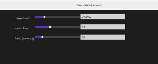 Amortization Calculator App