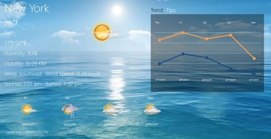 Another Weather App For Windows 8 New Weather