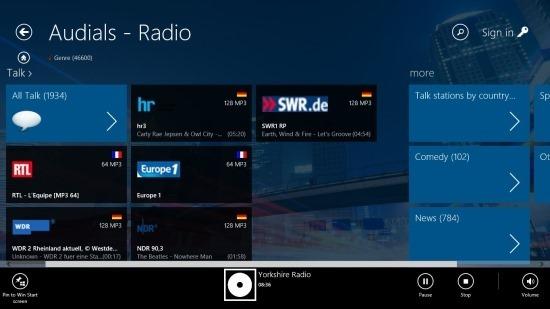Audials Radio App For Windows 8