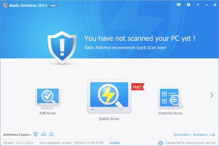 Baidu Antivirus default window