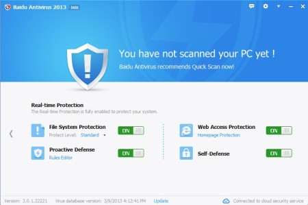 Baidu Antivirus detailed report