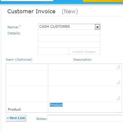 BillFaster creating invoice