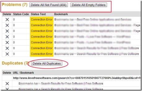 Bookmark Sentry 02 delete duplicate bookmarks