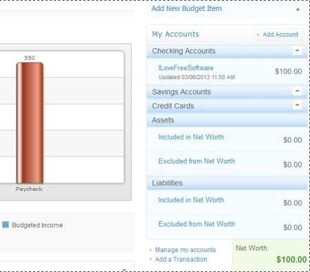 BudgetPulse creating budget